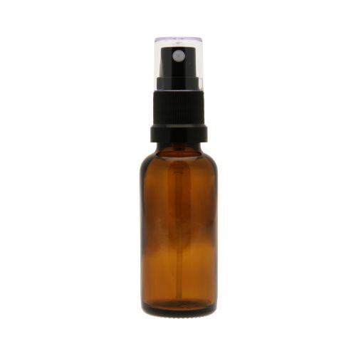 Frasco de vidro de 50ml na cor âmbar com tampa spray. Ideal para as suas receitas DIY de arormatizante de ambiente, repelentes corporais, etc.  As tampas roll-on e conta-gotas, que são vendidas com os frascos de 5ml e 10ml também são compatíveis com este frasco.