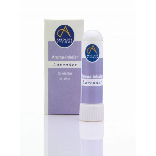 O óleo essencial de lavanda em um prático inalador nasal. Pronto a usar a qualquer momento em qualquer lugar. 100% biológico