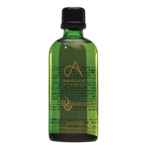 Soothe é uma mistura de óleos reparadora, criada para auxiliar na reparação de cabelos e coutro cabeludo secos e irritados.