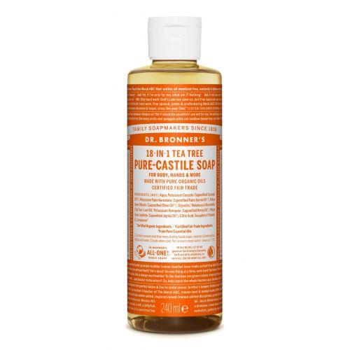 Puro Sabão de Castela com Óleo Essencial de TeaTree BIO | Dr. Bronner's