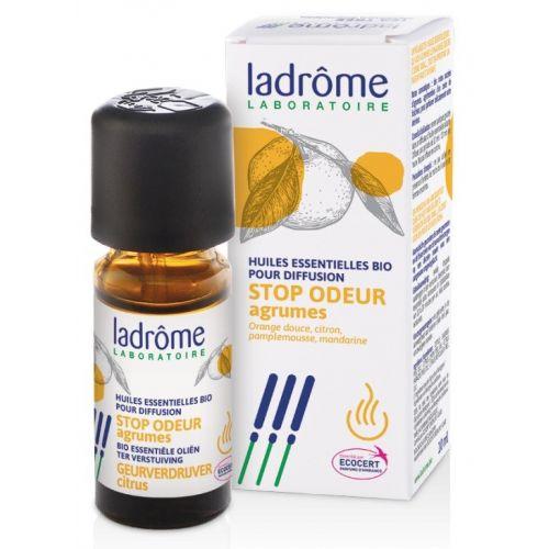 Mistura de 4 óleos essenciais  biológicos para difusão que ajudam a eliminar maus odores (cozinha, tabaco, etc).