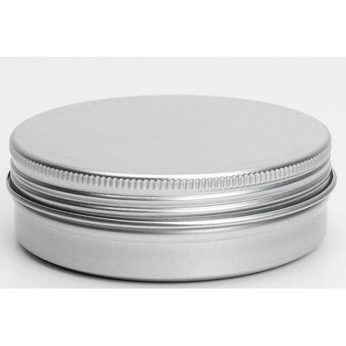 Lata de alumínio com tampa. Inclui um disco de espuma para uma melhor vedação. Ideal para bálsamos e pomadas DIY.