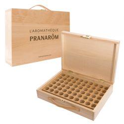 Aromateca - Caixa de madeira exclusiva para 60 frascos de óleo essencial.